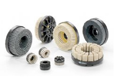 Abrasive brushes for the metallurgical industry
